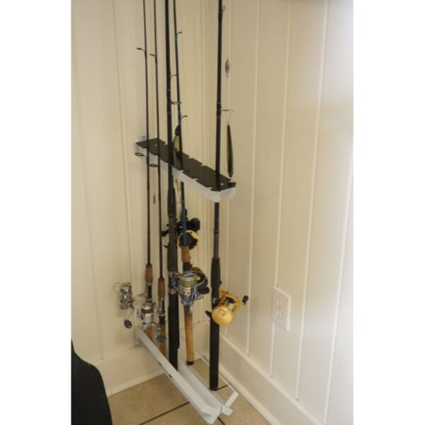 Viking Solutions Perpendicular Wall or Deck Mount Rod Holder